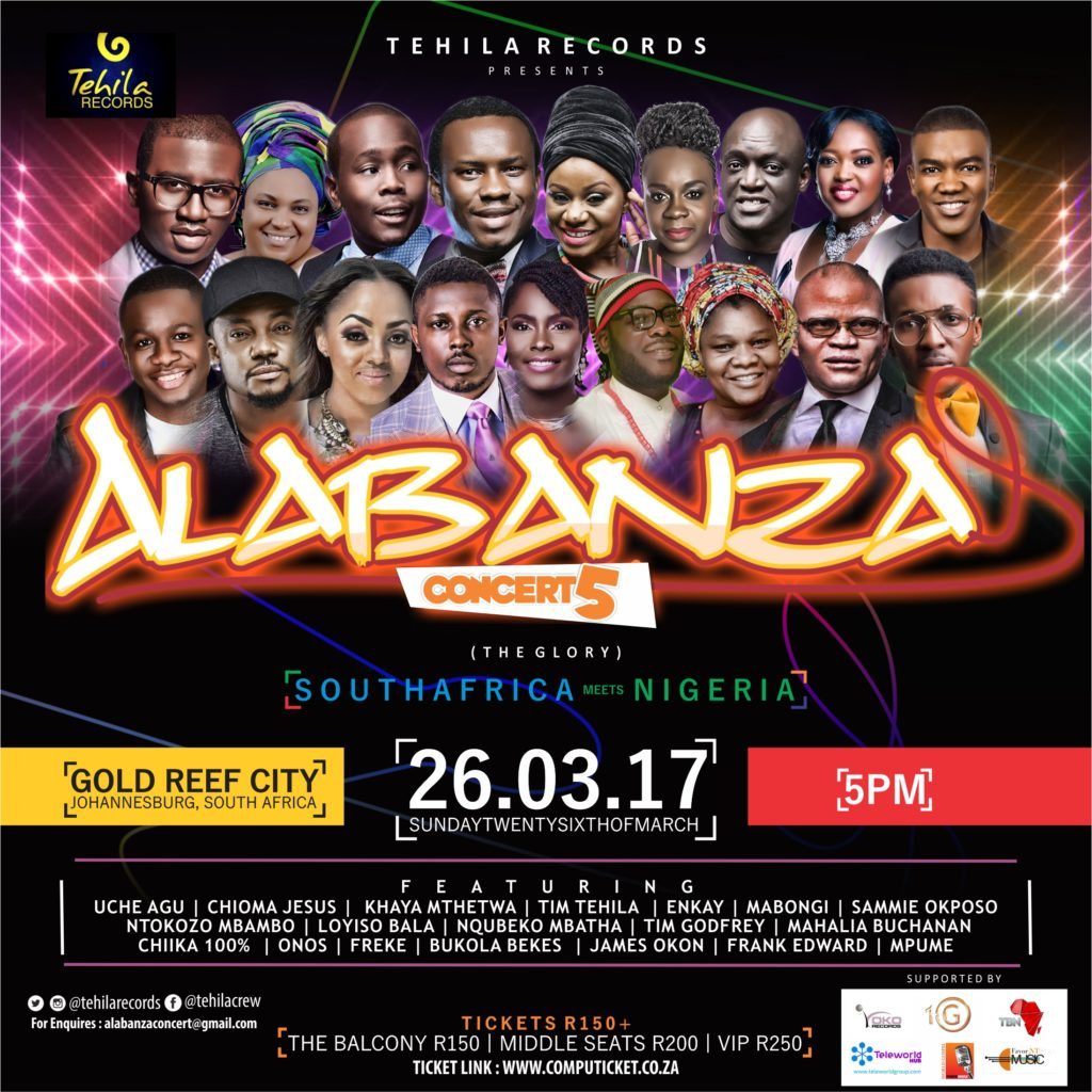 South Africa To Host 2017 Edition of Nigeria Mega Gospel Concert - Alabanza